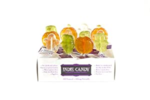 Indie Candy Frankenstein Lollipop, Lime Flavor, 2-Ounce (Pack of 6)