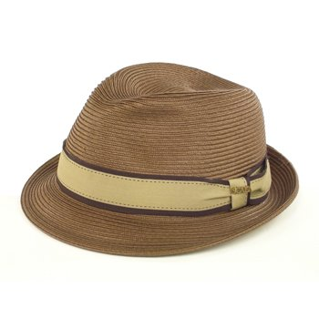Scala dress straw snap brim paper braid hat. Taupe