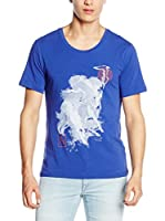 Trussardi Jeans Camiseta Manga Corta (Azul Royal)