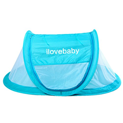Why Choose Instant Portable Pop Up Travel Baby Tent, Beach Play Tent, Bed Playpen-Blue