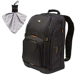 Case Logic Digital SLR Camera Backpack Case (Black) (SLRC-206) for Panasonic / Olympus E-5, E-30, Evolt E-420, E-520, E-620, OM-D EM-5, Pen E-P2, E-P3, E-PL2, E-PL3, E-PM1 Digital SLR Cameras
