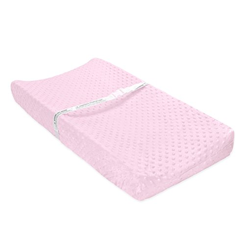 Carter's Popcorn Valboa Changing Pad Cover, Pink Blossom
