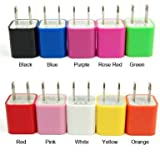 Colorful US Micro USB Wall Charger Adapter For iPhone 5 5S 5C 5G iPod Touch (Red)
