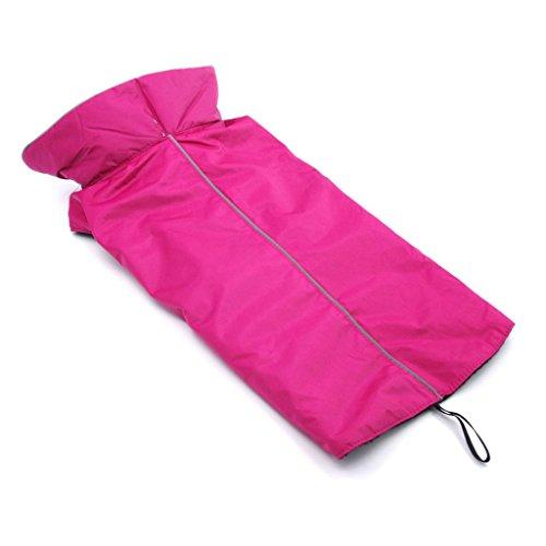 ThinkPet Hundejacke Wasserdicht Reflektierend, Regenjacke Hundebekleidung
