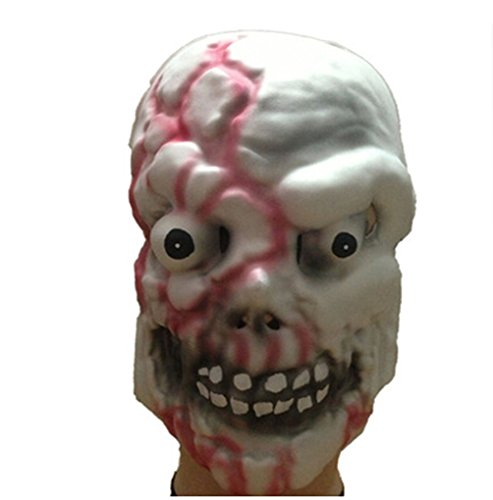 Very Scary Halloween Party Mask Bloody Skull Masks Halloween Mask-White And Red