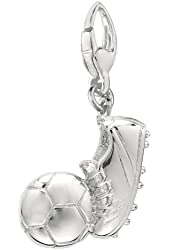 Sterling Silver SNEAKER AND SOCCER BALL Charm
