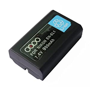 Dopo Replacement Nikon EN-EL1 Rechargeable Battery for Nikon Coolpix 775, 880, 885, 995, 4300, 4500, 4800, 5000, 5400, 5700 and 8700 Digital Cameras