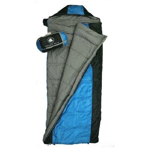 10T Outdoor Equipment Selawik 150, 764764 - Sacco a pelo, 200 x 80 x 80 cm, colore blu