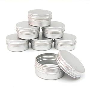 25 x 15ml Aluminium Lip Balm Pots 15ml Capacity Empty Small Mini Cosmetic/Lip Gloss/Nail Art Pots Tins Jars