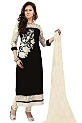 Shreenathji Enterprise Black Georgette Dress Materials (H124-04_black_Free size)
