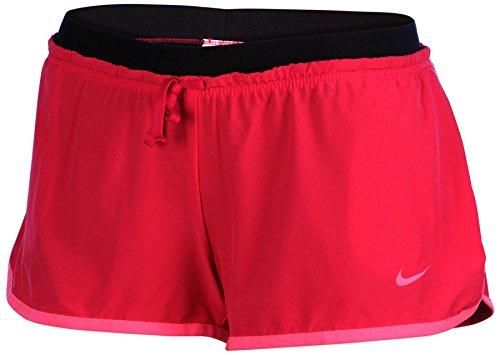 Nike Women's Dri-Fit Full Flex 2-In-1 Training Shorts-Fireberry/Black-Medium