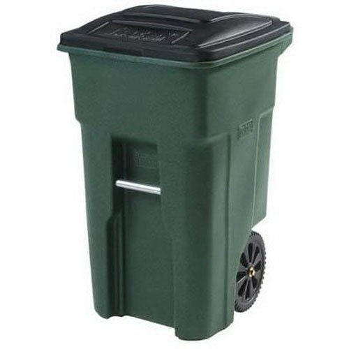 Toter 025532-R1GRS Residential Heavy Duty 2-Wheeled Trash Can with Attached Lid, 32-Gallon, Greenstone (Recycle Can With Lid compare prices)