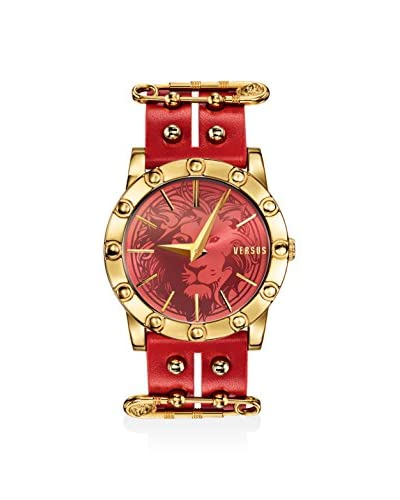 Versus Women's SF7040014 Miami Red Leather Calfskin Watch