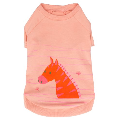 Blueberry Pet 8-Inch Cat Henry The Zebra Cotton Dog Shirt For Puppy, X-Small, Light Apricot front-1009097