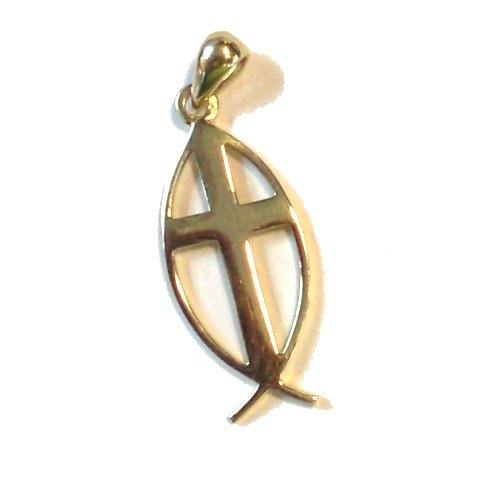14 K solid Gold Messianic Pendant - Large (2.7 cm or 1.1 inches ) - Chain not included