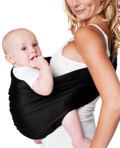 Hotslings Adjustable Pouch Baby Sling, Regular, Black