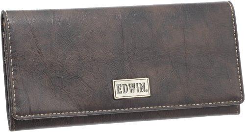[エドウィン] メタルプレート 小銭付き長財布 12229650 (D.BROWN)