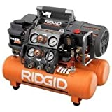 RIDGID Tri-Stack 5-Gal. Portable Electric Steel Orange Air Compressor