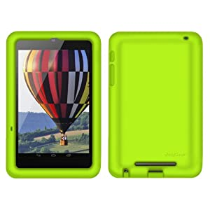 Bobj Rugged Case for Nexus 7 Tablet - BobjGear protective cover - Gotcha Green