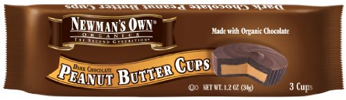 Newman'S Own Organics Dark Chocolate Cups, Peanut Butter, 1.2-Ounce Cups (Pack Of 16)
