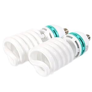 2 ampoules photo lumière du jour de 125W,5400K,économise l'énergie