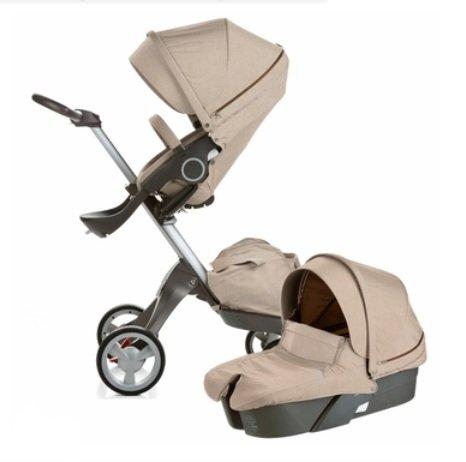 Stokke Xplory Newborn Stroller (Beige Melange) front-913579