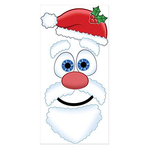 Beistle Santa Face Door Decor, 30 by 5-Inch, Multicolor