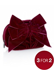 Autograph Velvet Bow Make Up Purse
