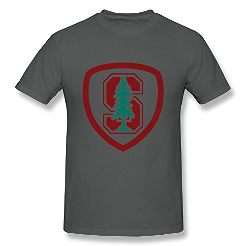 LIMEI Men's Stanford University O-Neck Shirt DeepHeather XL (Larry Hoover Shirts compare prices)