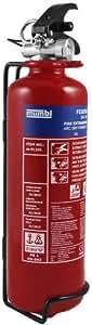 mumbi m-FL101 Feuerlöscher Pulver 1KG ABC mit Manometer und Halterung / konform nach DIN EN 3