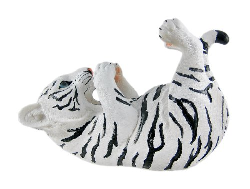 White Tiger Tabletop Wine Bottle Holder Decoration Decor Statue