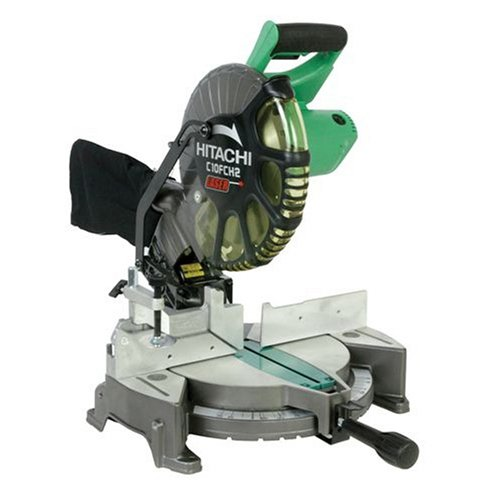 41d FIBApiL Hitachi C10FCH2 10 Inch Miter Saw with Laser