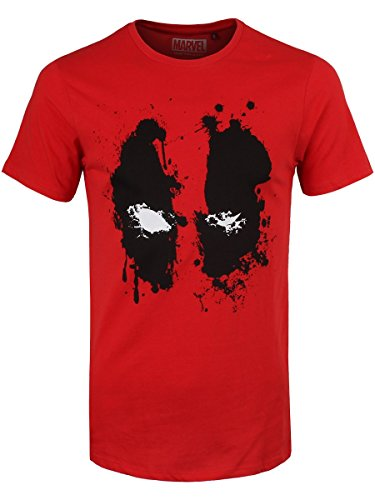 Deadpool T-Shirt Splash Head Size S CODI