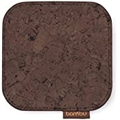 Cork Fabric Coaster | Dark Brown - Set Of 2