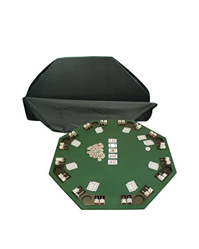 Trademark Games Deluxe Poker & Blackjack Table Top with Case