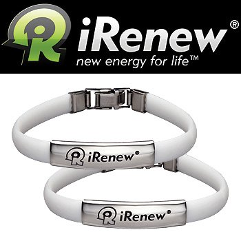 IRenew Energized Well Bracelet – White (Set Of 2)
