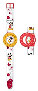 Mickey Mouse Kid's Quartz Watch with Multicolour Dial Analogue Display and Multicolour Plastic or Pu Strap MIC4