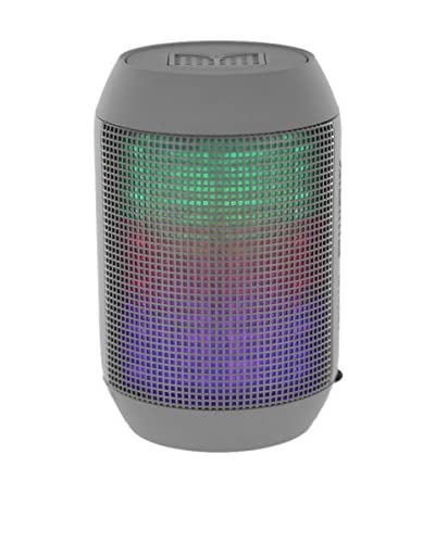 iPM Pump It Up LED Light Up Bluetooth Speaker, Grey