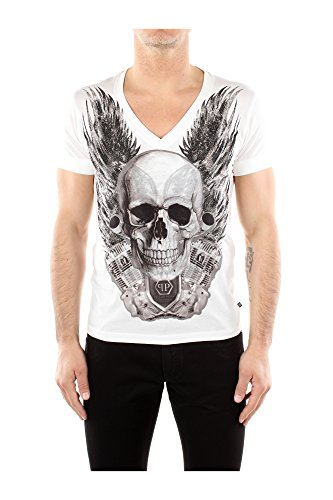 T-Shirt Philipp Plein Herren Baumwolle Weiß HM34532101 Weiß S thumbnail