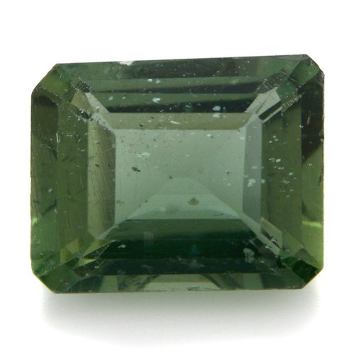 Natural Africa Green Apatite Loose Gemstone Emerald Cut 8*7mm 2.40cts SI Grade