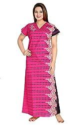 Vimal Fashion Cotton Multi Colour Printed Night Wear / Nightgown / Women Sleepwear / Womans Pyjamas (VF056)