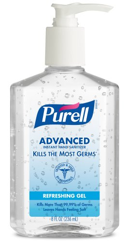 Purell 9652-12 Advanced Instant Hand Sanitizer, 8 Fl. Oz. Pump Bottle (Case Of 12)