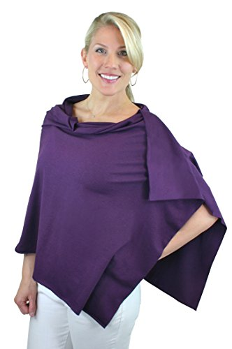 Bamboobies Chic Nursing Shawl - Nursing Cover for Maternity and More, Blackberry