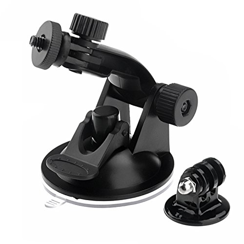 D&F Suction Cup Windshield/Dash Car Rotate Mount with Tripod Mount Adapter for Gopro 4/3+/3/2/1 SJCAM SJ8000/7000/6000/4000 Xiaomi Yi Action Camera