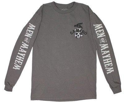 Men of Mayhem - Sons Of Anarchy Long Sleeve T-shirt: Adult Medium - Charcoal