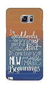 AMEZ start something new and the magic begins Back Cover For Samsung Galaxy Note 5