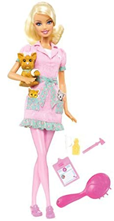 Barbie I Can Be Pet Vet Doll by Mattel (English Manual)