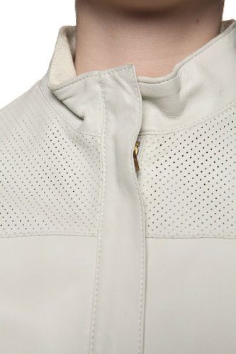 Cristiano di Thiene Leather Jacket TIFFANY, Color: Light Green, Size: 38