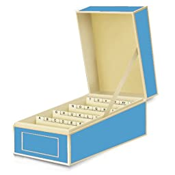 Semikolon Business Card File Box, Dividers A to Z, Turquoise (3230019)