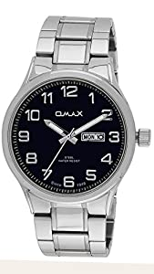 OMAX Men's Stainless Steel Semi Formal Watch With Day And Date Feature Blue - SS500